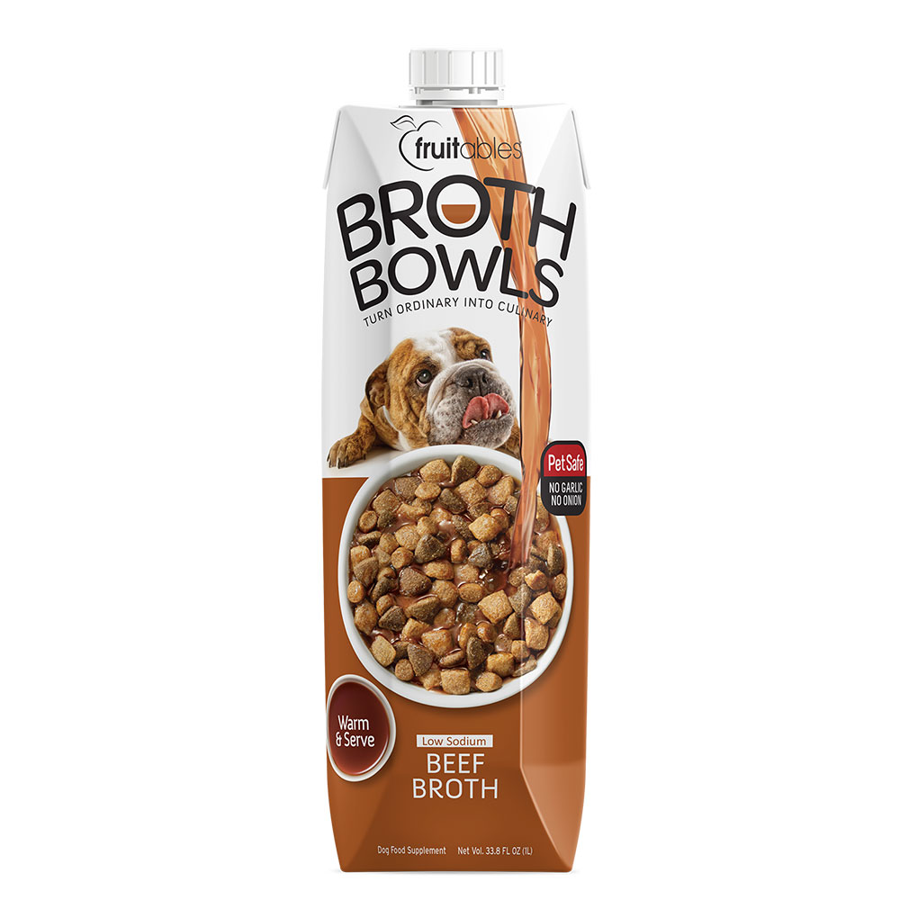 Fruitables Broth Bowls Beef Dog 1 Lt Naturally For Pets