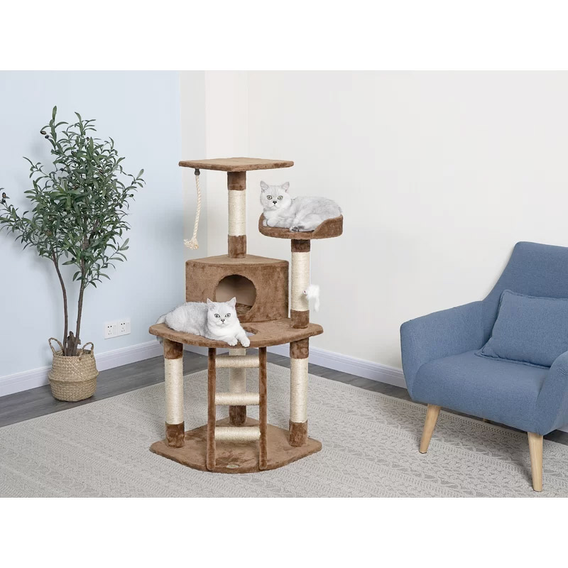 Cat Tree With Ladder Rope Size