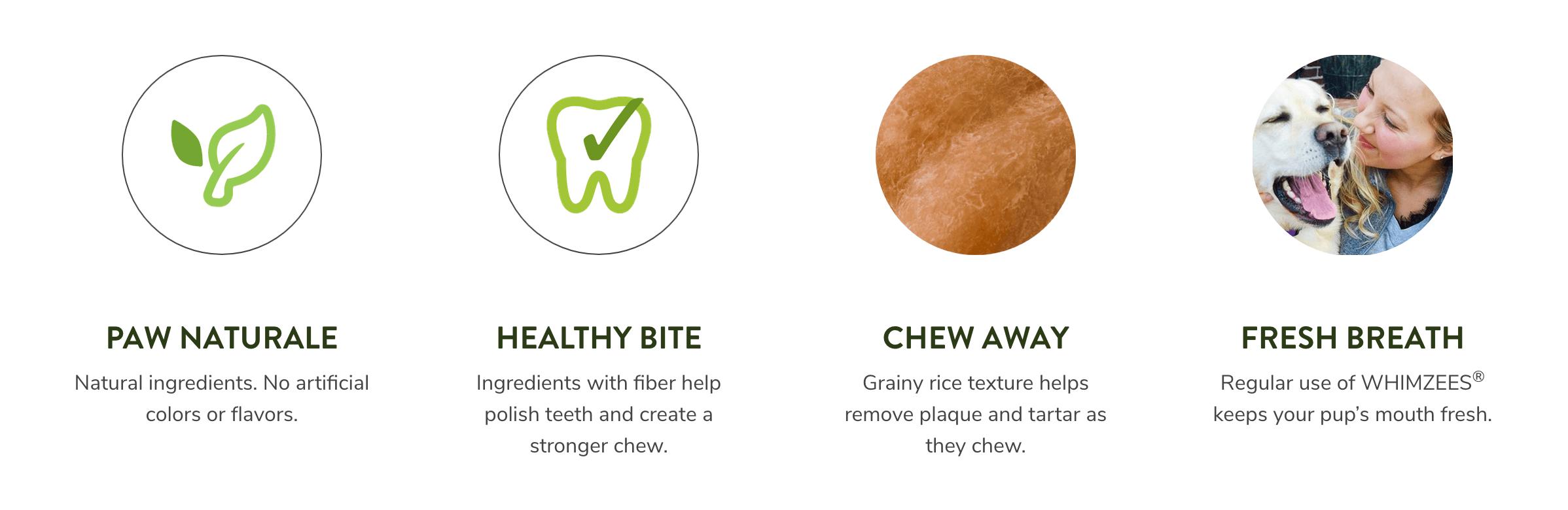 Whimzees Rice Bone Dental Dog Treat Large